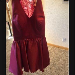 I am selling a burgundy dress